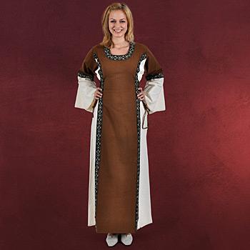 Mittelalter Kleid Reinhild braun-natur