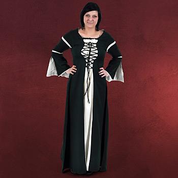 Mittelalter Kleid Katherina gr�n-natur
