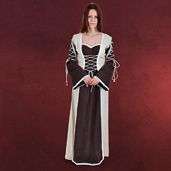 Mittelalter Kleid Magdalena braun-natur