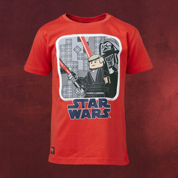 LEGO Star Wars - Luke Skywalker mit Darth Vader Kinder T-Shirt rot