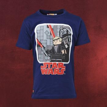 LEGO Star Wars - Luke Skywalker mit Darth Vader Kinder T-Shirt navy