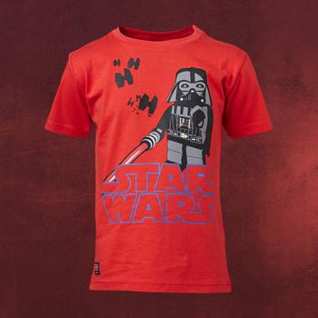LEGO Star Wars - Darth Vader Kinder T-Shirt rot