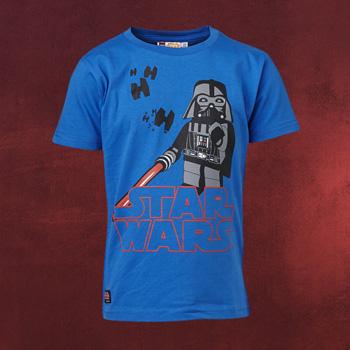 LEGO Star Wars - Darth Vader Kinder T-Shirt blau