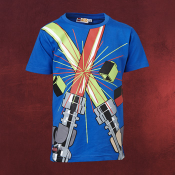 LEGO Star Wars - Lichtschwert Kinder T-Shirt blau