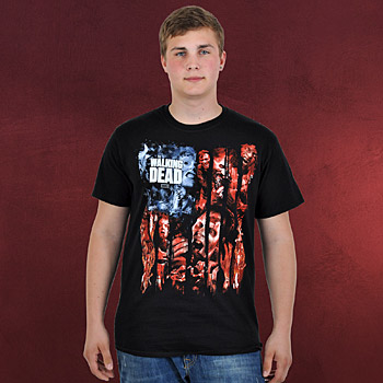 Walking Dead - Walkers Flag T-Shirt