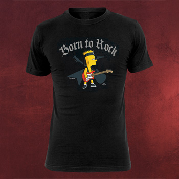 Simpsons - Bart Born To Rock T-Shirt