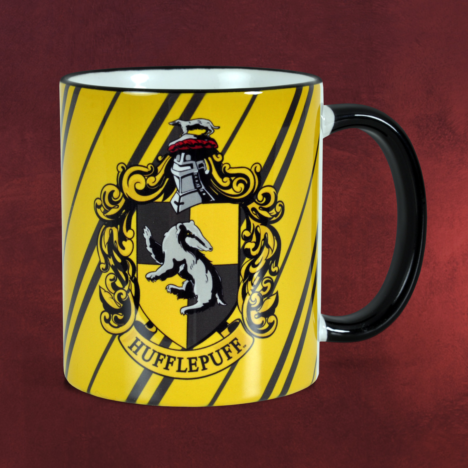 harry potter hufflepuff wappen tasse hogwarts haus symbol logo kaffee becher ebay. Black Bedroom Furniture Sets. Home Design Ideas