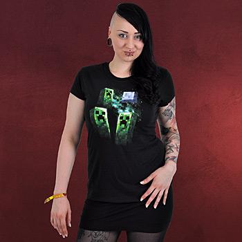 Minecraft - Three Creeper Moon Girlie Shirt