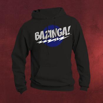 Big Bang Theory - BAZINGA! Hoodie schwarz
