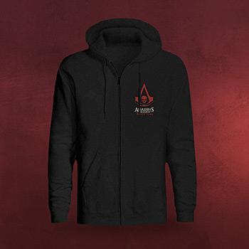 Assassins Creed IV - Black Flag Kappu-Jacke schwarz