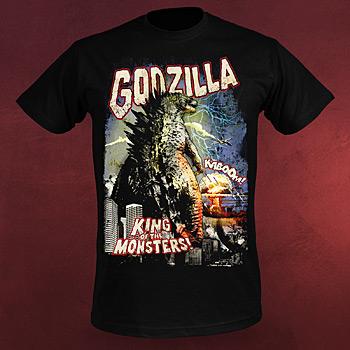 Godzilla - Retro Poster T-Shirt
