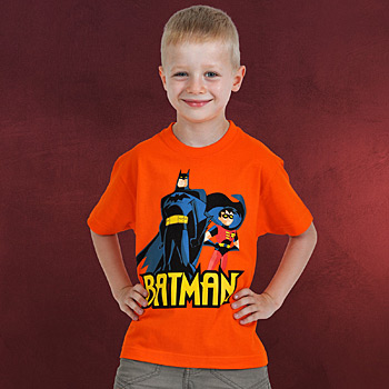 Batman und Robin Kinder T-Shirt orange