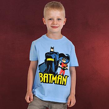 Batman und Robin Kinder T-Shirt blau