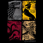 Game of Thrones - Wappen distressed T-Shirt schwarz