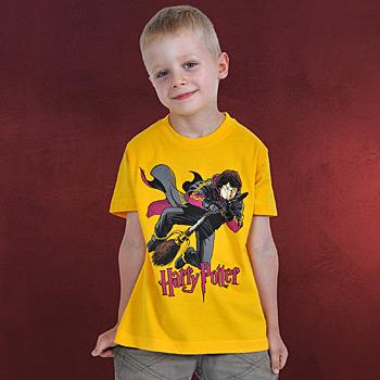 Harry Potter - Flying Harry Kinder T-Shirt gelb