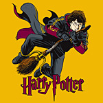 Harry Potter - Flying Harry Kinder T-Shirt gelb