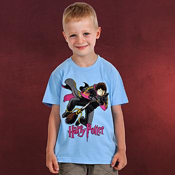 Harry Potter - Flying Harry Kinder T-Shirt blau
