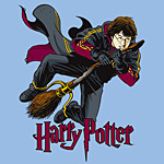Harry Potter - Flying Harry Kinder T-Shirt blau