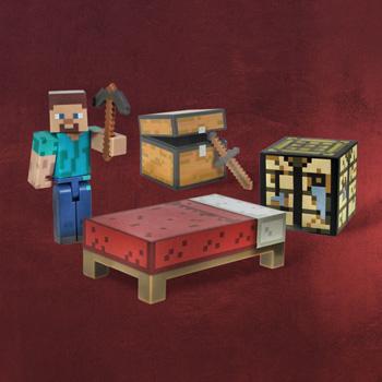 Minecraft - Steve Actionfigur Survival Pack