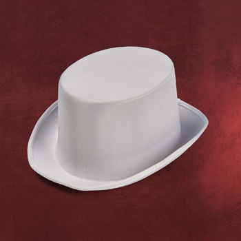 Satin-Zylinder weiß