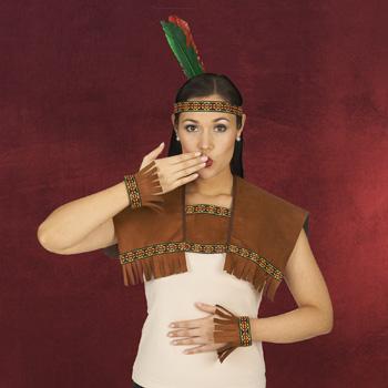 Indianer Stirnband mit Kragen und Manschetten