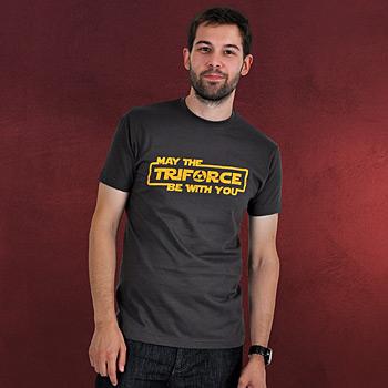 Zelda - Triforce T-Shirt grau