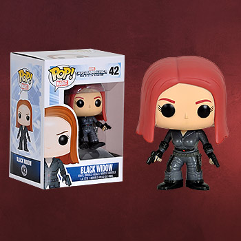 Captain America - Black Widow Wackelkopf Figur