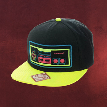 Nintendo Controller Snapback Cap neon