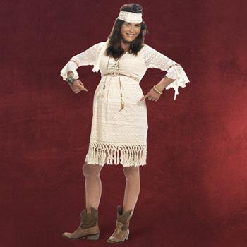 Hippie Schwangerenkost�m