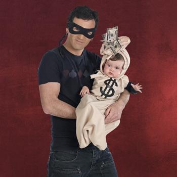 2 in 1 Baby Kost�m Gauner mit Geldsack