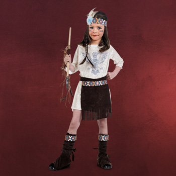 Indianer Lady Kinderkost�m
