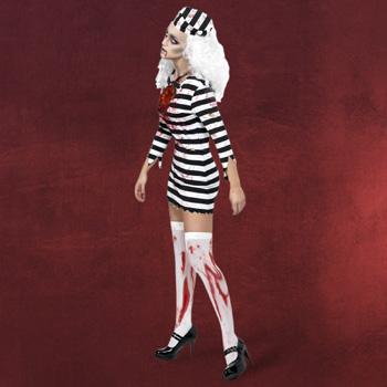 Untoter Sträfling Kostüm Damen