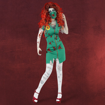 Zombie OP-Schwester Kostüm Damen