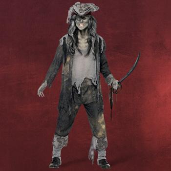 Zombie Piraten Kapit�n Kost�m Herren