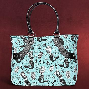 Rockabilly - Henkel Tasche Mermaid