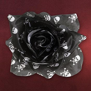 Rockabilly - Haar Clip Rose Skull