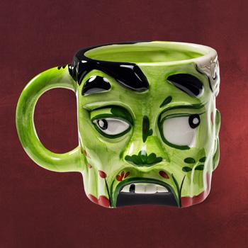 Zombie Mann Gruselkopf Tasse