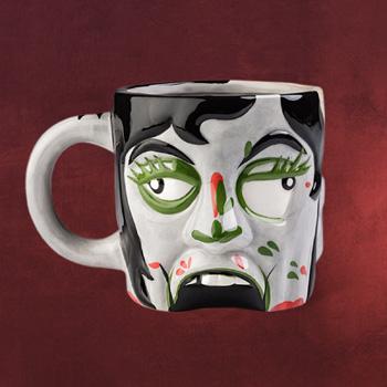 Zombie Dame Gruselkopf Tasse