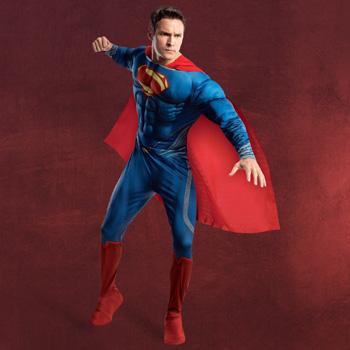 Superman - Kost�m mit Brustmuskulatur