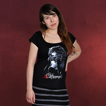 Catwoman Glam Girlie Shirt