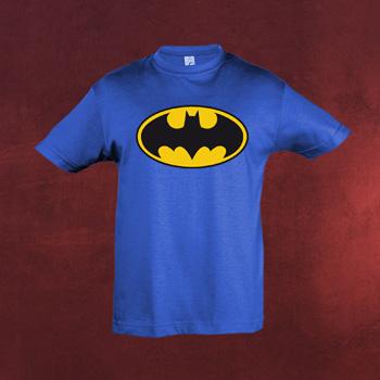 Batman Logo Kinder T-Shirt blau
