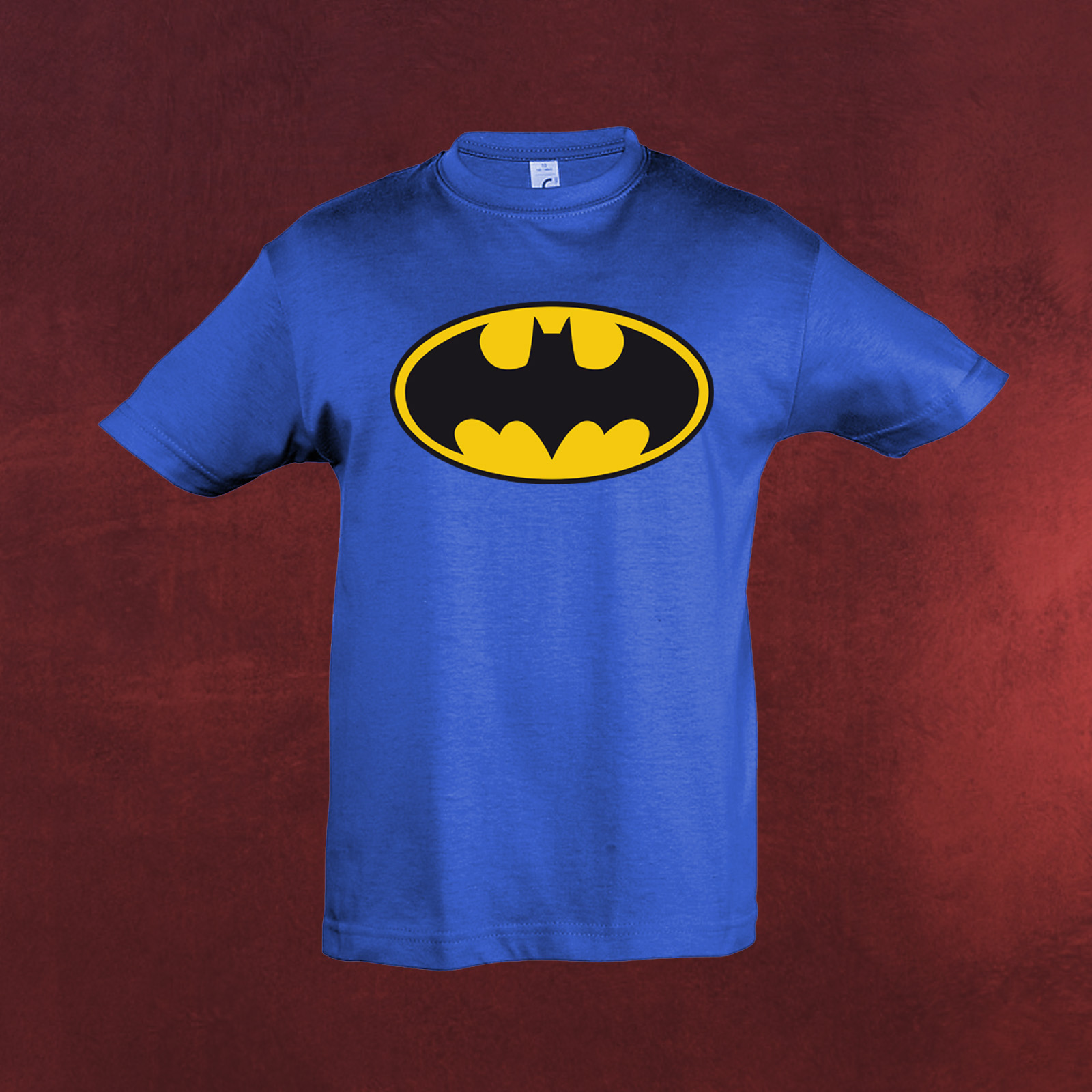 batman logo t shirt kinder lizenziert dc comics f r comic superhelden fans ebay. Black Bedroom Furniture Sets. Home Design Ideas
