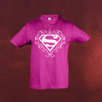 Superman Logo Kinder Girlie Shirt pink