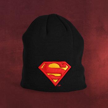 Superman - Logo Strick M�tze schwarz