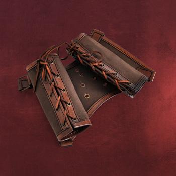 Doppelschwerthalter Rücken - Braun