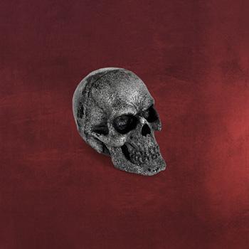 LARP - Wurfsch�del Skull silber