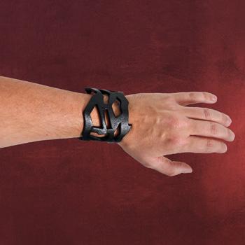Leder Armband Scratched schwarz