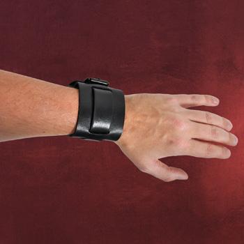 Leder Armband Massive schwarz