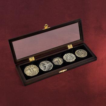 Hobbit - Smaugs Schatz Zwergen Münzen Set