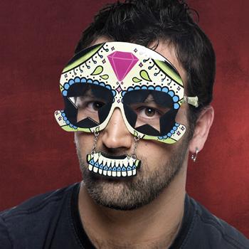 Fun Brille Mexikanische Totenmaske